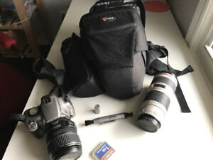 Canon Rebel XT Kit - 2 Lenses, Camera Bag, Memory+++, tripod
