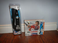 Wii NHL Slapshot with 2 hockey sticks - avec 2 bâtons de hockey