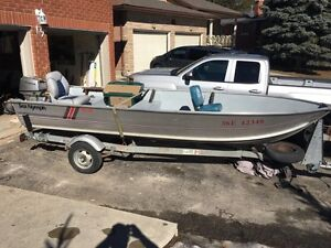 16 ft aluminum boat with honda 15hp outboard