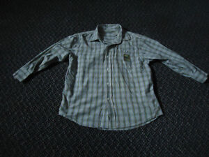 Boys Size 8 Long Sleeve Plaid Dress Shirt