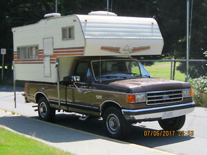 1989 Ford F-250 Pickup Truck And 8 FT Camper For Sale