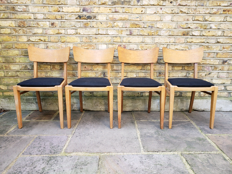 Vintage mid century G Plan Brandon wooden butterfly back dining chairs for sale  Hackney, North London