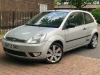 2004/53 Ford Fiesta 1.4 Ltd Edn Silver ** BLACK LEATHER SPORTS LIGHTS **