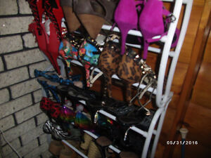 large variety of womens shoes high heels, flats, pumps, size 7.5