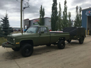1987 chevy 5/4 ton army truck with 12 valve p-pumped cummins