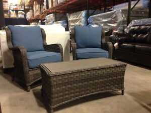 3 piece Patio Lounge set!!  Brand New!!  Cushioned Comfort!!