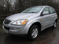 09/09 SSANGYOUNG KYRON 2.0D S 2WD IN MET SILVER WITH NEW MOT