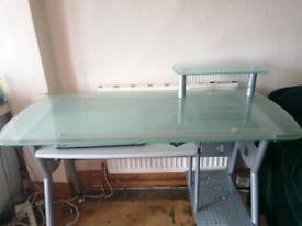 Glazed glass office table