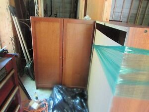IKEA Bookcase with solid doors.  BEST OFFER.