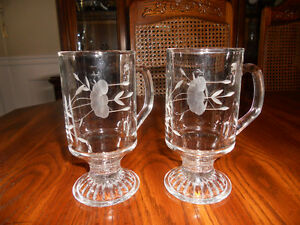 Princess House Heritage Crystal Beverage Mugs