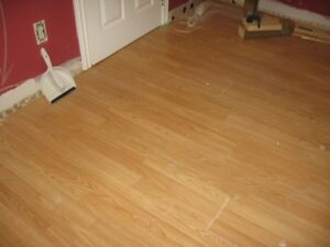 Laminate flooring-light oak color