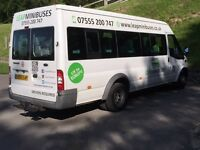 MINIBUS HIRE - 16 SEATERS - TRAVEL TO EUROPE - MALE & FEMALE DRIVERS - QUICK QUOTES EVERYDAY