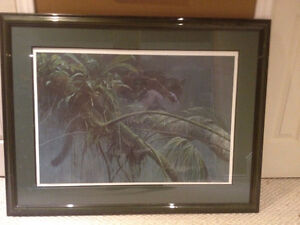 Robert Bateman, Shadow of the Rain forest print with letter of