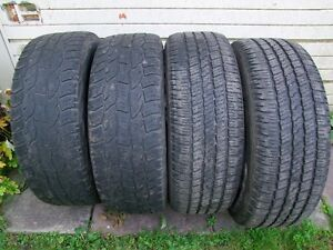 4-275/60R20 M+S ALL SEASON TIRES CAN SELL IN PAIRS