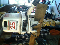 Parting out 1974 Johnson 25HP 40404S