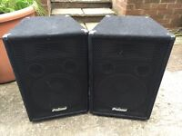Various PA equipment - speakers, amps, monitors, mixing desk, flightcases and more