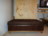 SELLING OTTOMAN 4FT  X 28  17 HIGH LOTS OF STORAGE