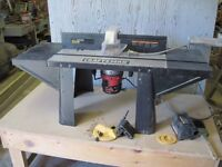 Craftsman Router Table with Router and Accessories
