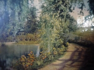 "Hand Colored Photo After Wallace Nutting ""Natural Path"" 1920's Stratford Kitchener Area image 7"