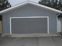 Large secure double detached garage for rent - REDUCED