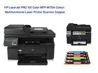 HP LaserJet PRO 100 Color MFP M175A Multifunctional Laser Printer Scanner Coppier Fully Tested