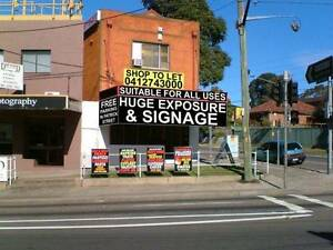Shop Front Main Road Huge Exposure Kingsgrove Canterbury Area Preview