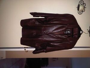 Brown Italian Leather Jacket - Veston cuir italien brun