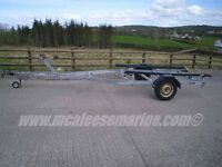 Snipe bunked boat trailer