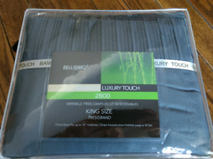 Bellisimo Bamboo Luxury Touch 2800 King Size fitted sheets