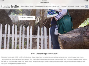 Timi & Leslie Diaper designer bag model Charlie