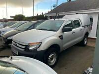 2013 13 FORD RANGER 2.2 TDCI XL DOUBLE CAB PICKUP 4X4 SILVER 1 OWNER FSH