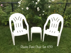 Patio Chairs & Decorations