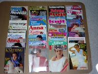 Knitting, Crocheting Books and Magazines ... Lots to choose from
