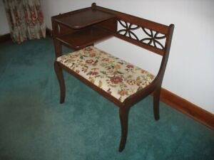 Antique (over 70 years old) telephone table in perfect condition
