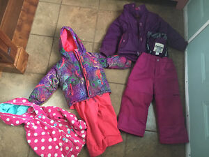 Girls snowsuits and spring jacket