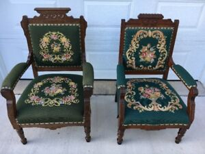 Vintage Eastlake King & Queen Chairs for Sale!