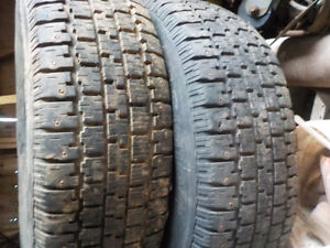 4- bf goodrich studded 205/75/15 winter tires 1st $240 cash