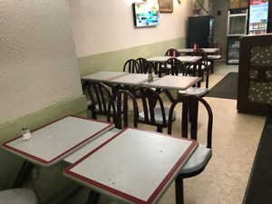 Restaurant tables and ch6