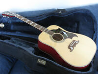 Epiphone acoustic guitar and travel case