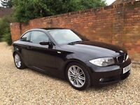 Bmw 120d Coupe M Sport, 58 Plate Metallic Black, 6 Speed Manual, Heated Seats, 12 Months MOT