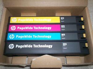 4 Cartouche d'encre PageWide 972H de HP ORIGINAL / GENUINE
