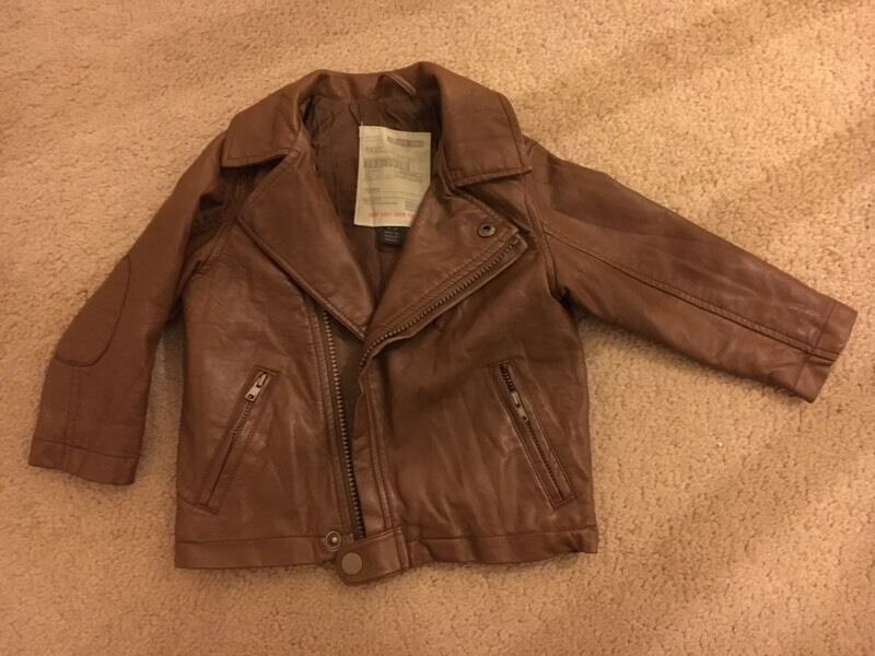Kids Brown Leather Jacket by Next12 18 Monthsin Burntisland, FifeGumtree - Brown leather jacket from Next in excellent condition, size 12 18 months, unisex, £10