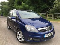 Vauxhall Zafira design 1.9 diesel 150 bhp 6 speed 1 owner front+rear parking sensors huge spect