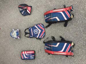 Hockey Net, Goalie Equipment (road hockey) and sticks