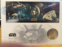 STAR WARS ROYAL MAIL STAMPS AND COIN