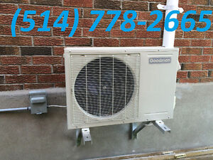 AIR CONDITIONERS OR HEAT PUMPS. CENTRAL AND WALL UNITS AVAILABLE West Island Greater Montréal image 1