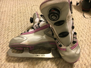 Girls size 2 Reebok skates with Boa cable tie system