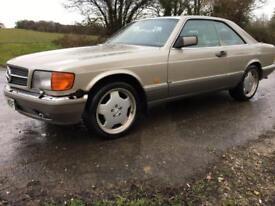 1988 'F' Mercedes Benz 500 SEC. Luxury Prestige Sport Coupe. Needs TLC. Px Swap