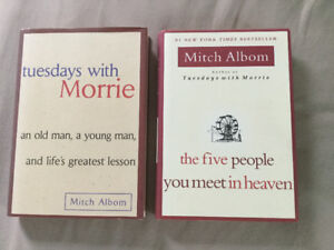 """2 Books by Mitch Albom (""""Tuesdays with Morrie"""" + 1)"""
