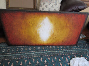Large bold abstract print - 48 x 24 inches. Great colours
